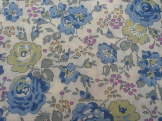 Tissu Liberty Felicite bleu et vert
