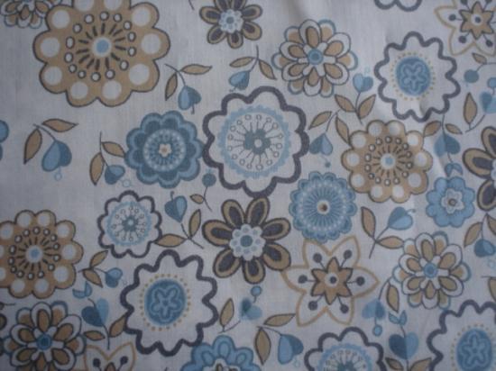 Tissu Liberty Lauren marron et bleu
