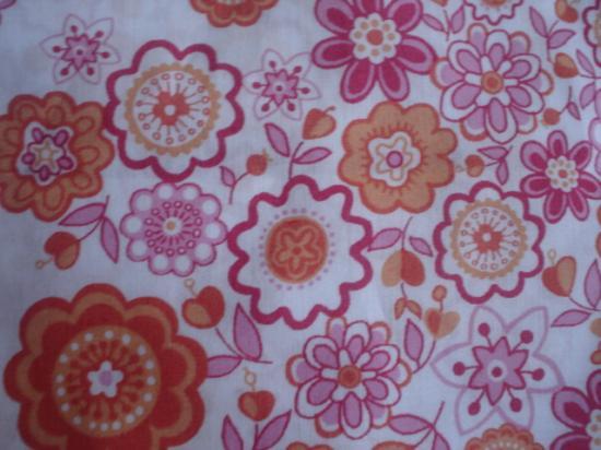 Tissu Liberty Lauren orange et rose