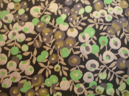Tissu Liberty Wiltshire marron et vert