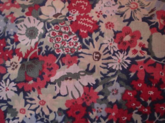 Tissu Liberty Thorpe rouge et bleu