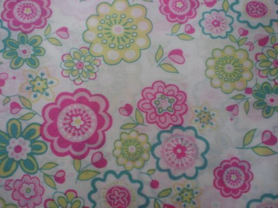 Tissu Liberty Lauren rose et vert