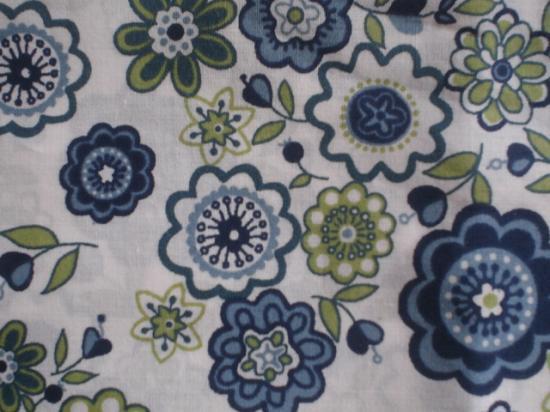 Tissu Liberty Lauren bleu et vert