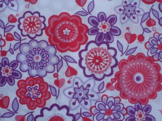 Tissu Liberty Lauren violet et rouge