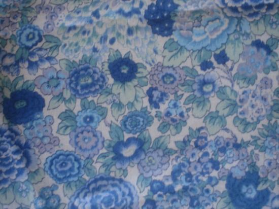 Tissu Liberty Elysian turquoise et vert