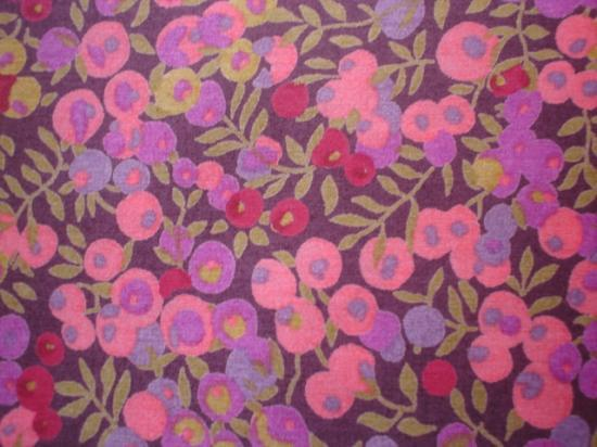 Tissu Liberty Wiltshire corail et prune