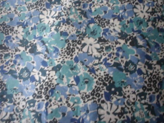 Tissu Lucy Locket bleu et vert