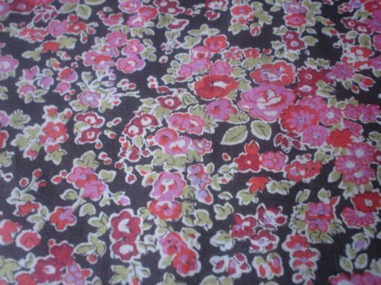 Tissu Tatum marron et rose