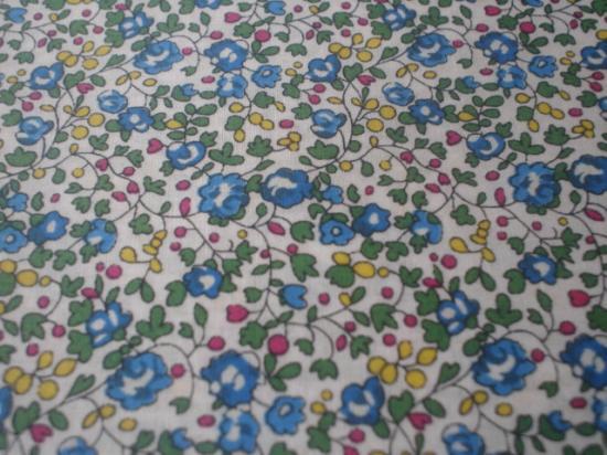 Tissu Eloise vert, bleu et jaune