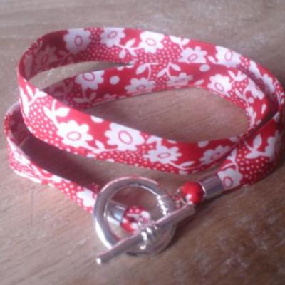 Bracelet ruban en Liberty Millie