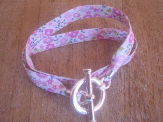 Bracelet ruban Fairford rose