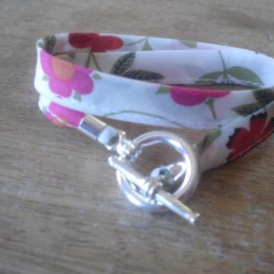 Bracelet ruban en Liberty Mirabelle