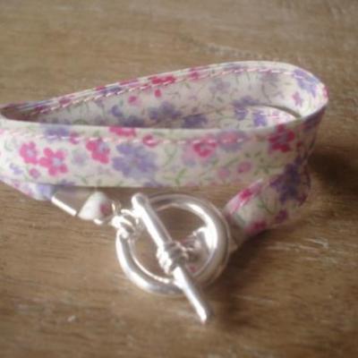 Bracelet ruban en Liberty Phoebe