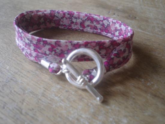 Bracelet ruban pepper rose