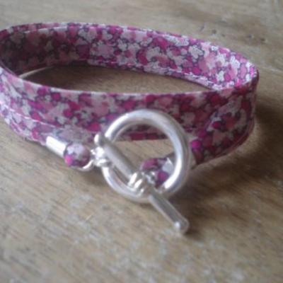 Bracelet ruban en Liberty Pepper