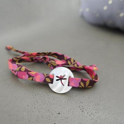 Bracelet nacre libellule