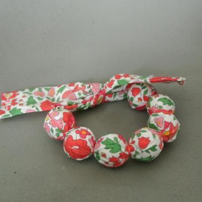 Bracelet boules en Liberty D'Anjo