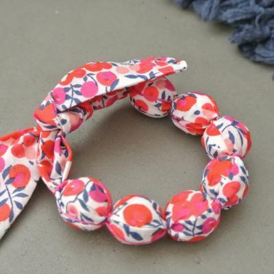 Bracelet boules en Liberty Wiltshire