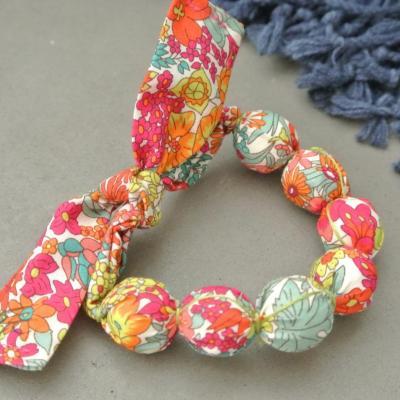Bracelet boules en Liberty Margaret Annie