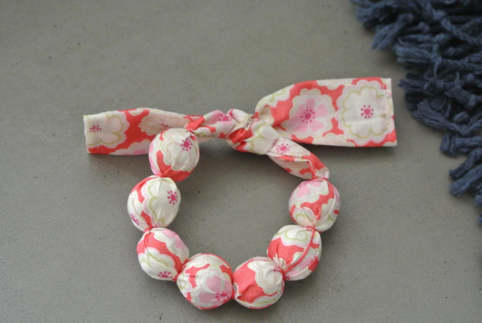 Bracelet boules Toria rouge