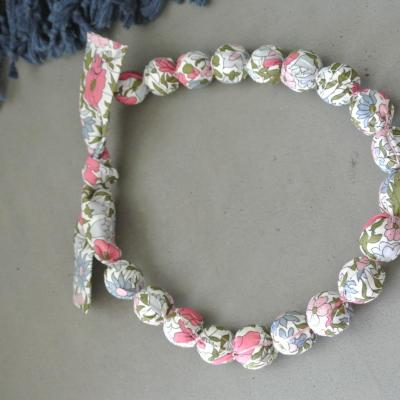 Collier Boules Liberty Poppy And Daisy