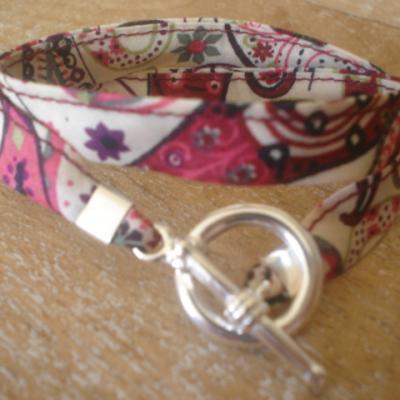Bracelet ruban en Liberty Mark