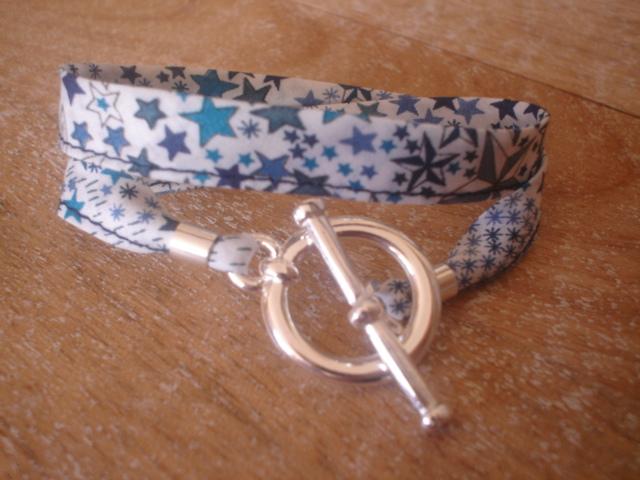 Bracelets ruban liberty - Tissu pour bracelet liberty ...