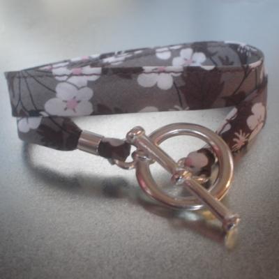 Bracelet ruban en Liberty Mitsi