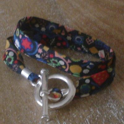 Bracelet ruban en Liberty Pick and Mix