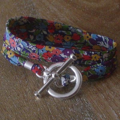 Bracelet ruban en Liberty Lesley's