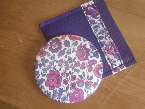 Miroir D'Anjo violet avec étui feutrine violet