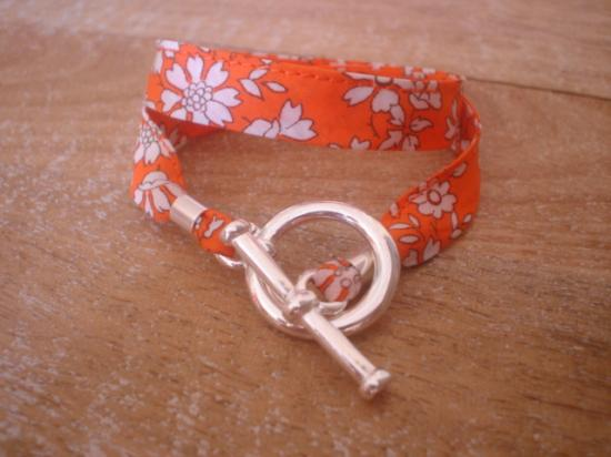Bracelet ruban Capel orange