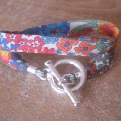 Bracelet ruban en Liberty Margaret Annie